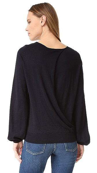 Elizabeth and James Georgia Cuff Split Back Sweater - Midnight