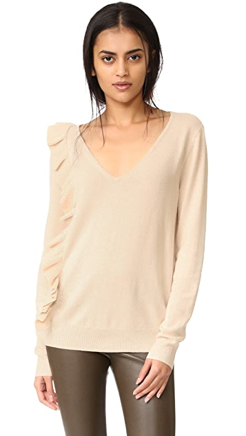 Elizabeth and James Odell Ruffle Long Sleeve Sweater