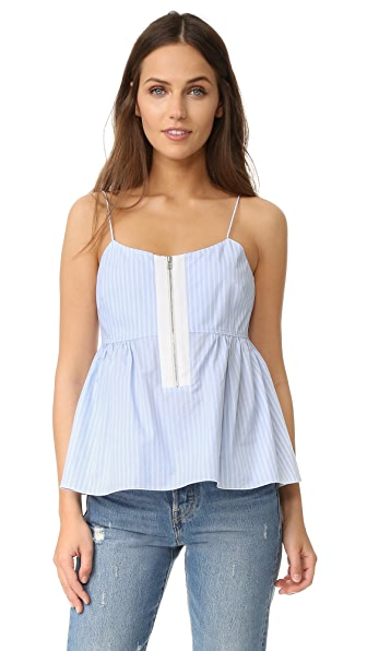 Elizabeth and James Eloise Top - Light Blue/White