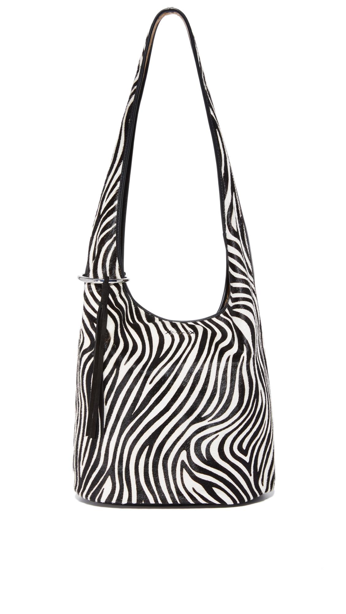 elizabeth and james female elizabeth and james finley courier hobo bag zebra