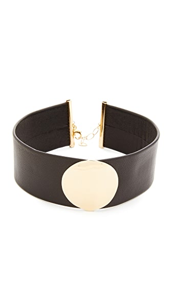 Elizabeth and James Anjelica Choker Necklace In Gold/Black