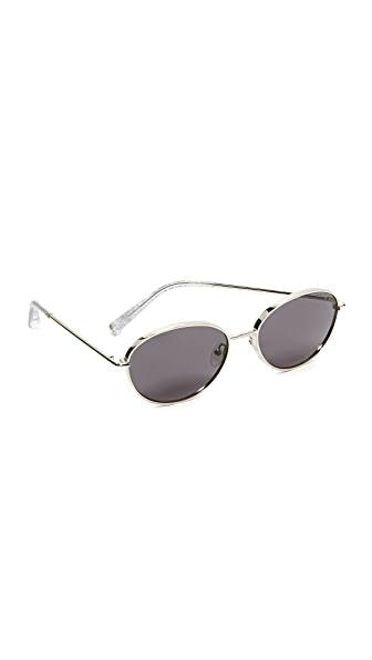 Elizabeth and James Fenn Sunglasses - Silver/Smoke Mono