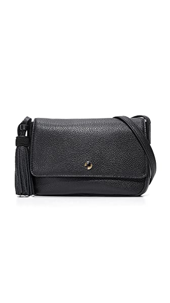 Elizabeth and James Cynnie Flap Cross Body Bag - Black