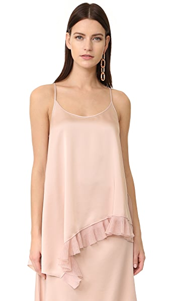 Elizabeth and James Angela Asymmetric Ruffle Top