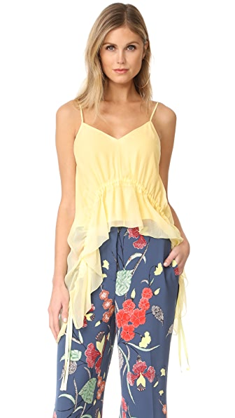 Elizabeth and James Eleanor V Neck Top In Daffodil