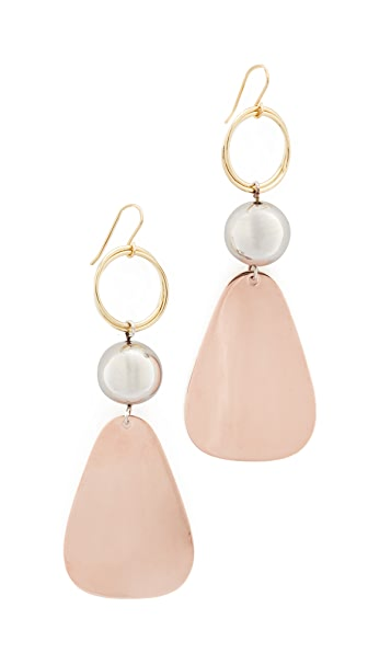 Elizabeth and James Tulum Earrings - Tri-Tone