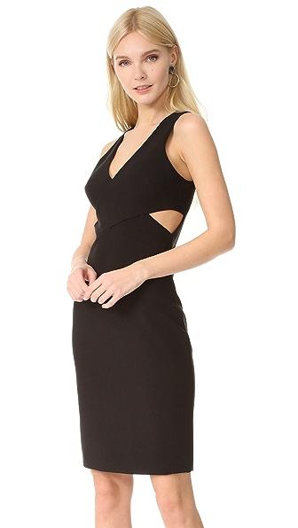 Elizabeth and James Aldridge Cross Front Dress - Black