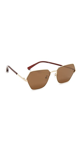 Elizabeth and James Henly Sunglasses - Gold/Brown