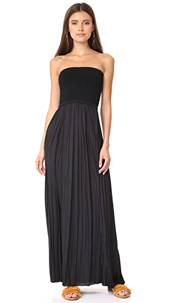 Elizabeth and James Emmaline Strapless Combo Dress In Black