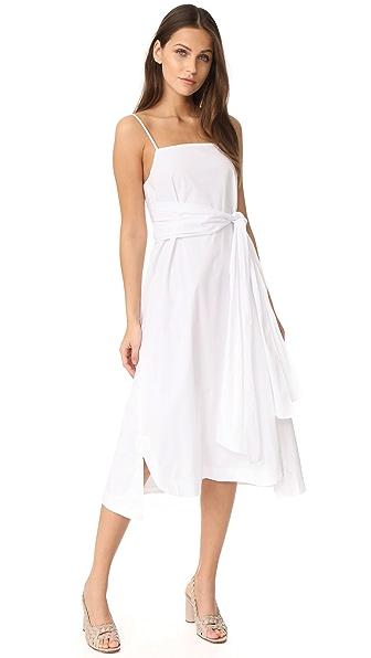 Elizabeth and James Oak Tie Strap Dress - White