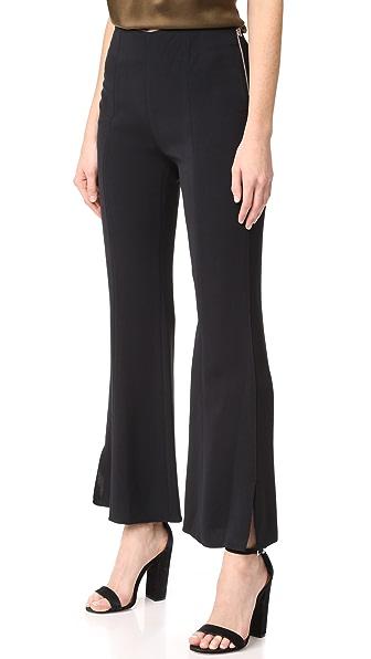 Elizabeth and James Carel Side Zip Flare Pants In Black