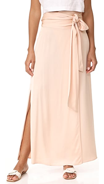 Elizabeth and James Almeria Wrap Tie Skirt with Slit