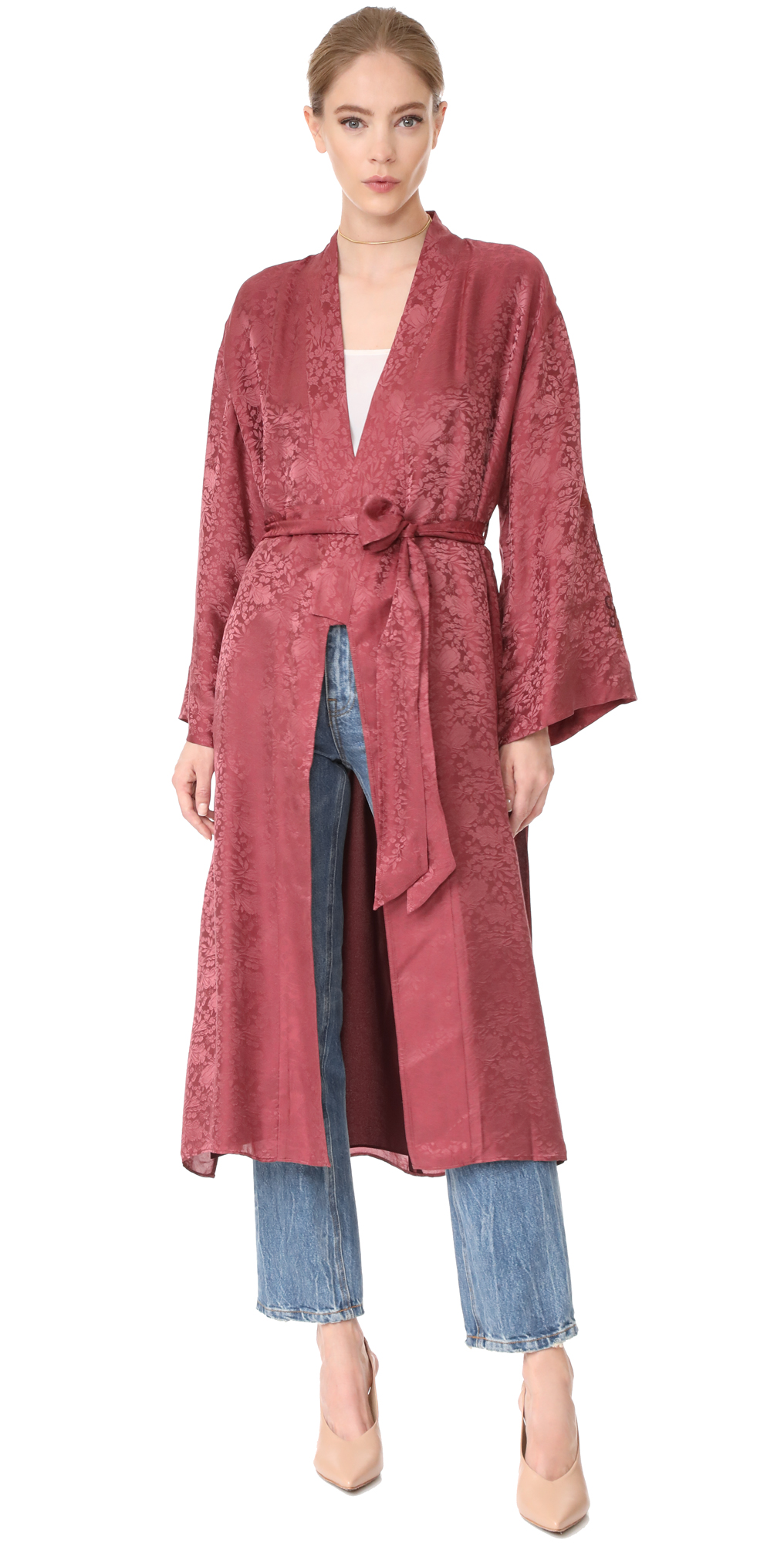 Tracey Wide Sleeve Robe Wrap Jacket Elizabeth and James