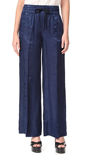 Elizabeth and James Whittier Drawstring Slouchy Pants In Indigo