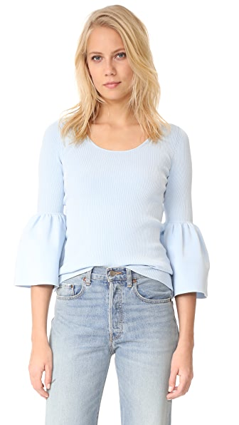 Elizabeth and James Willetta Flare Sleeve Top - Bluebell