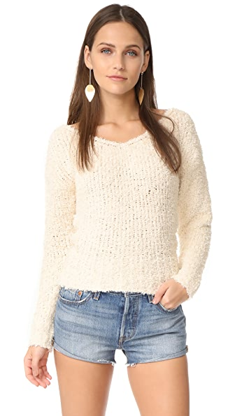 Elizabeth and James Wyatt V Neck Sweater - Ivory