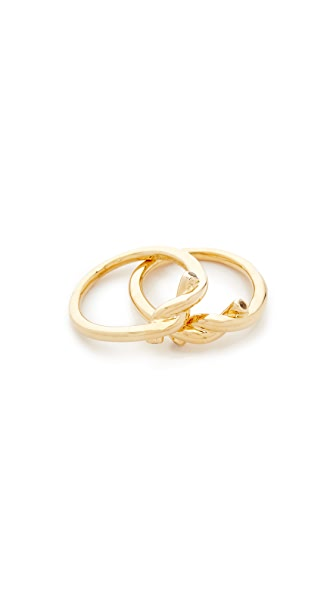 Elizabeth and James Tammy Ring Set - Gold/White Topaz