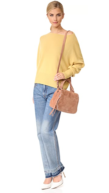 Elizabeth and James Trapeze Small Top Handle Bag