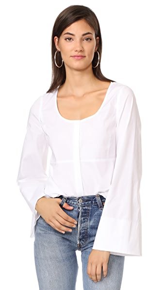 Elizabeth and James Carlos Wide Sleeve Top - White
