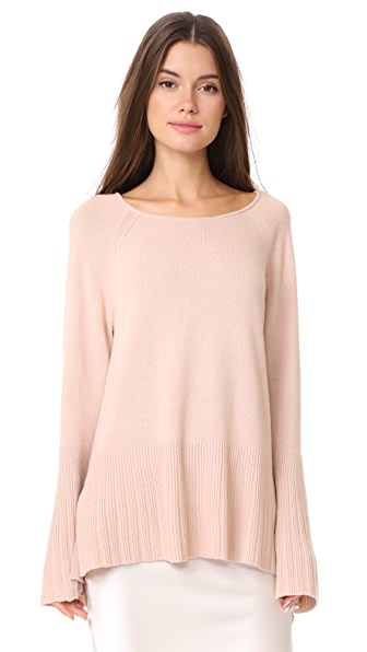 Elizabeth and James Clarette Wide Sleeve Sweater In Biscuit