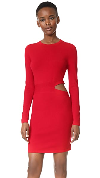 Elizabeth and James Railey Long Sleeve Dress with Side Cutout Detail