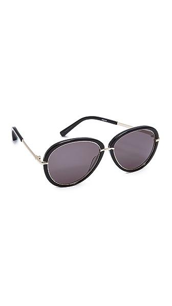 Elizabeth and James Reed Sunglasses - Black/Smoke Mono