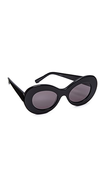 Elizabeth and James Howe Sunglasses - Black/Smoke Mono