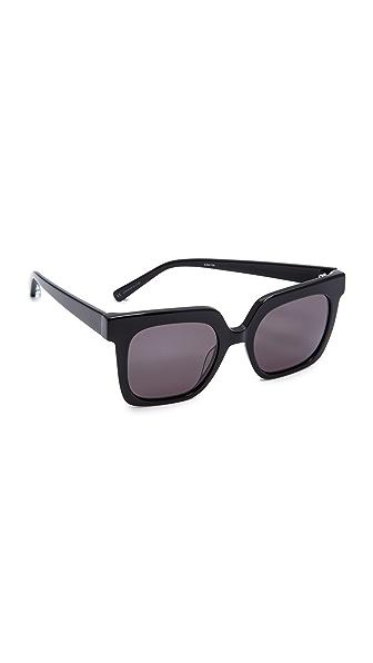 Elizabeth and James Rae Sunglasses In Black/Smoke Mono