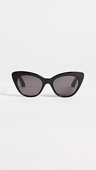 Elizabeth and James Vale Sunglasses - Black/Smoke Mono