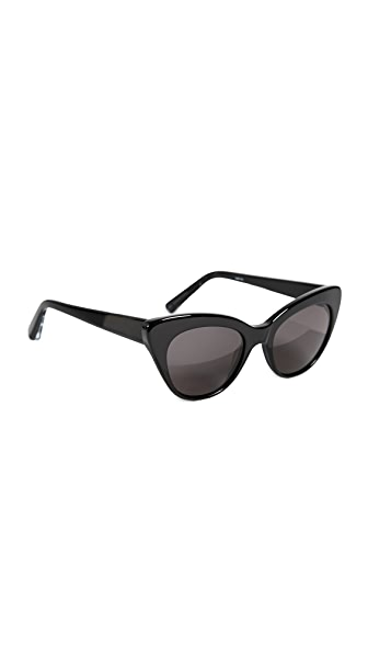 Elizabeth and James Vale Sunglasses In Black/Smoke Mono