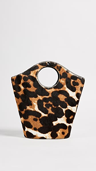 Elizabeth and James Small Market Shopper Tote - Leopard