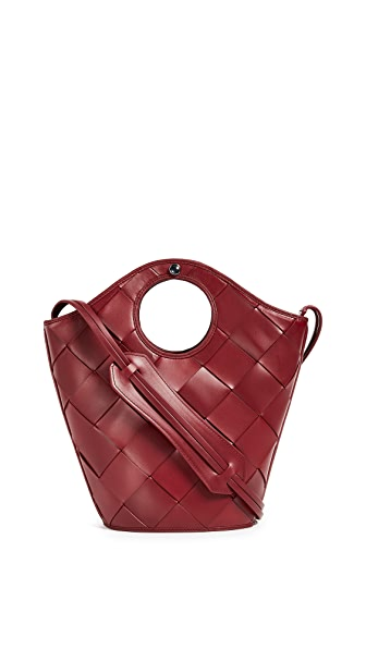 Elizabeth and James Small Market Shopper Tote In Cranberry