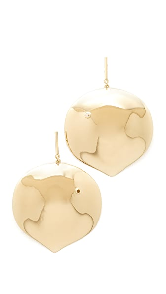 Elizabeth and James Brie Earrings - Gold