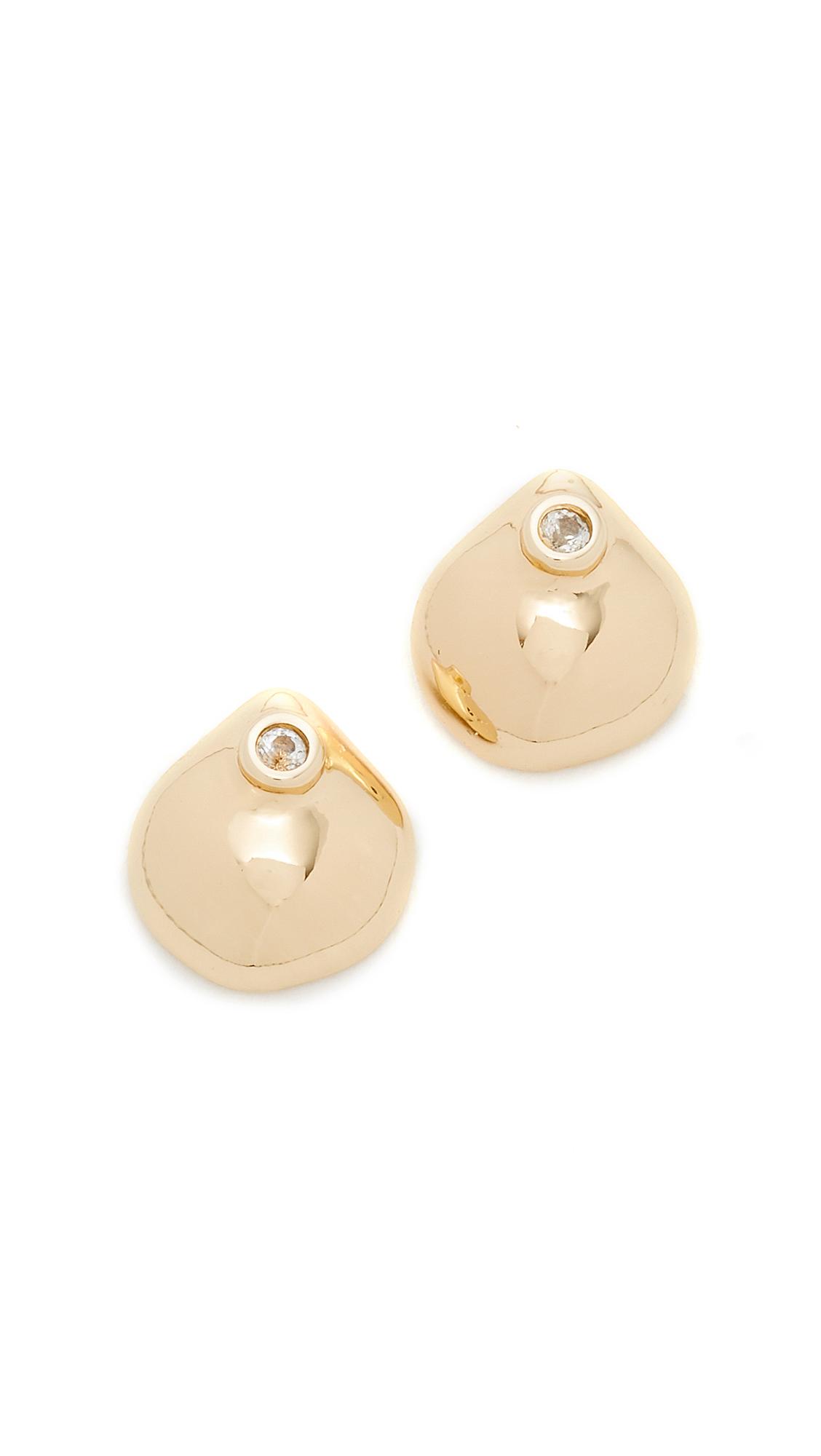 Elizabeth and James Hazel Stud Earrings - Gold