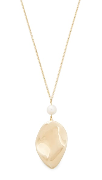Elizabeth and James Halona Pendant Necklace In Gold/Pearl