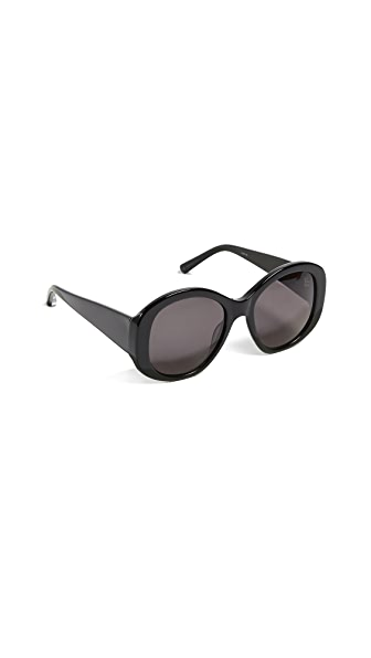 Elizabeth and James Kay Sunglasses In Black/Smoke Mono