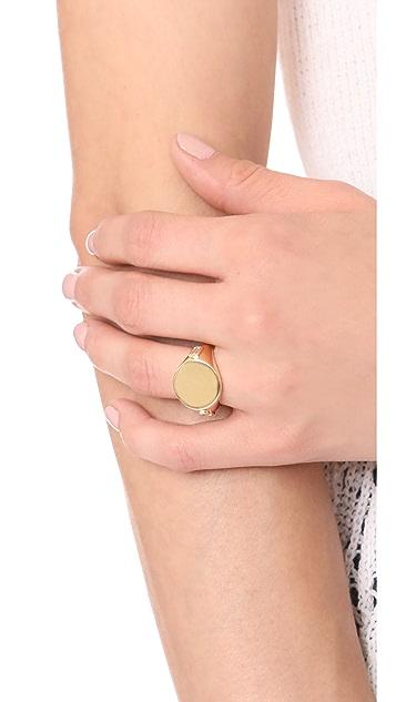 Elizabeth and James Serra Signet Ring