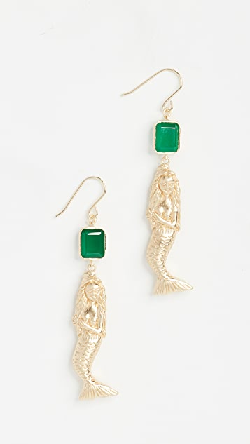 Elizabeth and James Mallory Mermaid Earrings