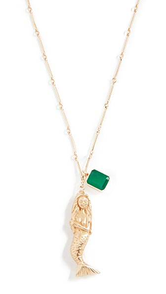 Elizabeth and James Mallory Mermaid Necklace In Gold