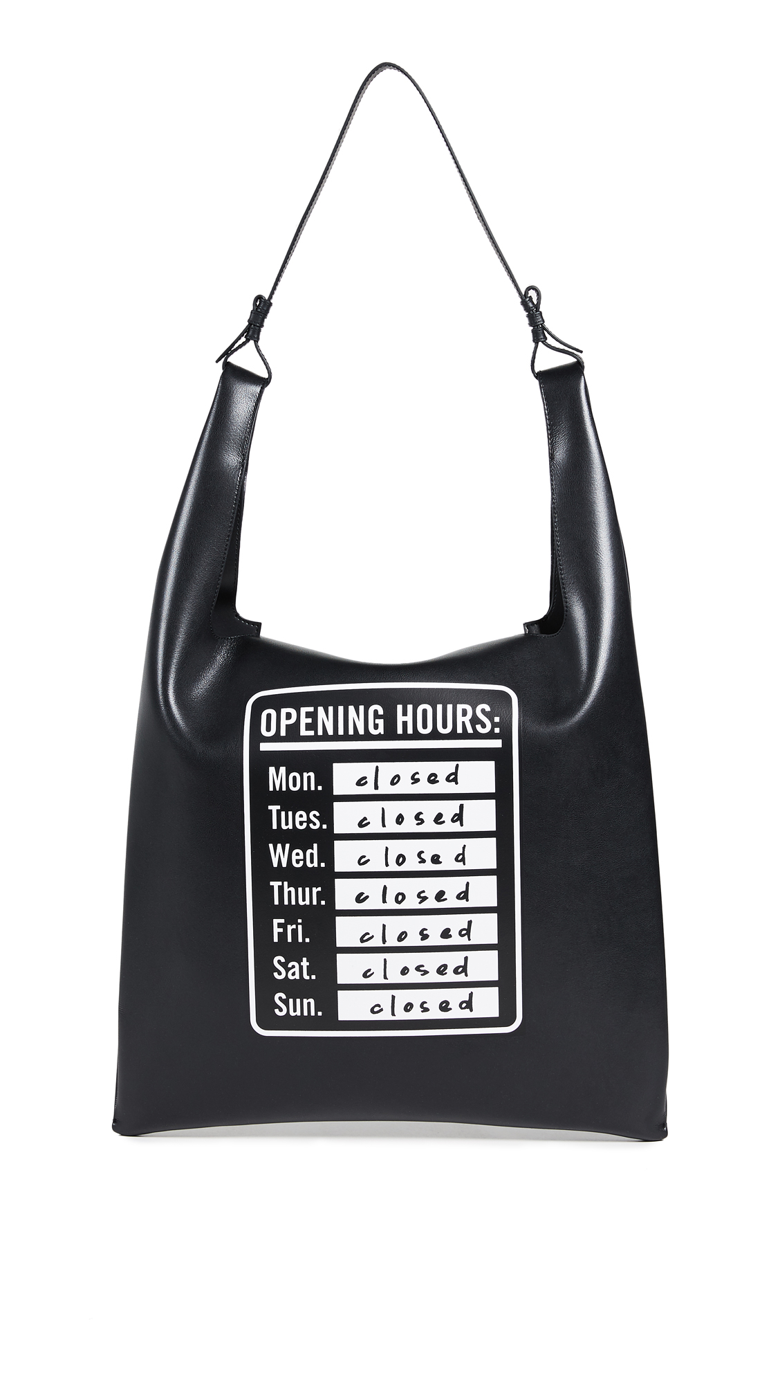 Elizabeth and James Opening Hours Bodega Bag - Black