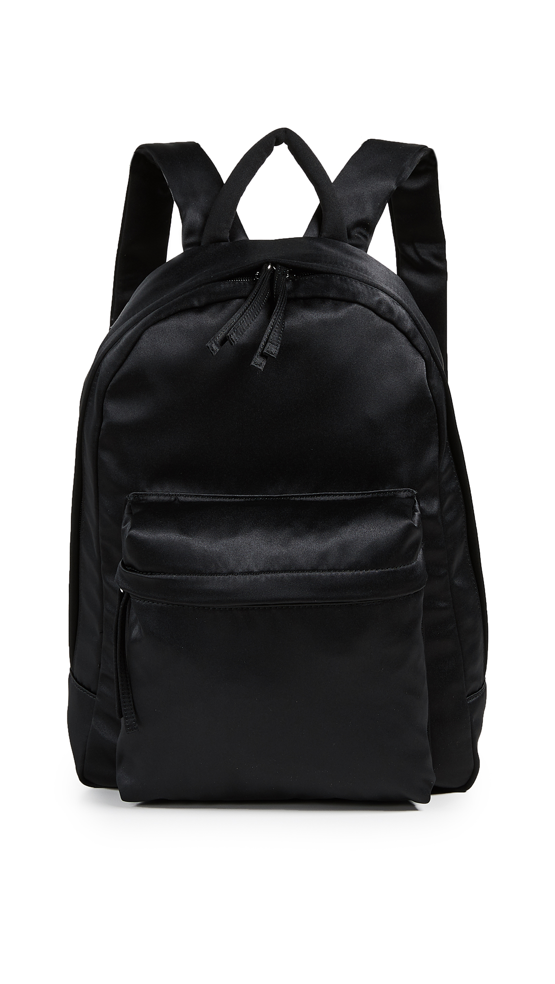 Satin Backpack in Black