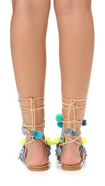 Elina Linardaki Mermaid Motel Gladiator Sandals