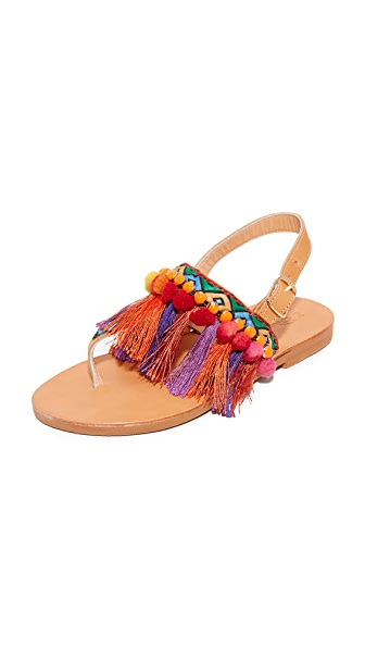 Elina Linardaki Dizzy Parrot Thong Sandals - Multi