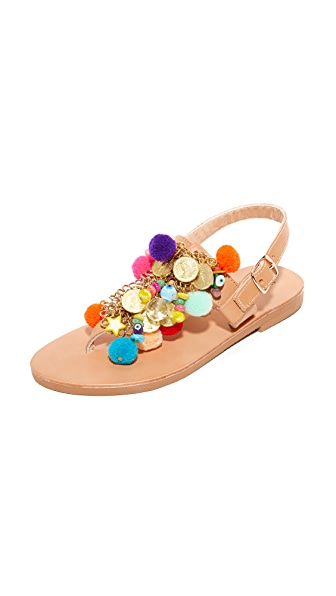 Elina Linardaki Jelly Tots Thong Sandals In Multi