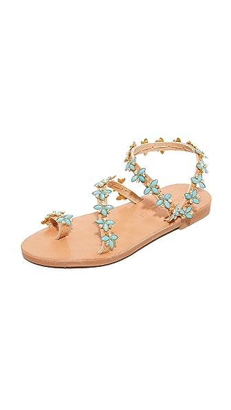 Elina Linardaki Natalie Turquoise Sandals