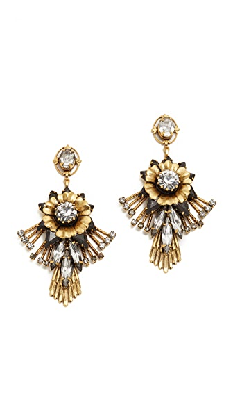 Elizabeth Cole Alisanne Crystal Earrings