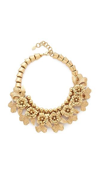 Elizabeth Cole Flower Necklace - Golden Glow