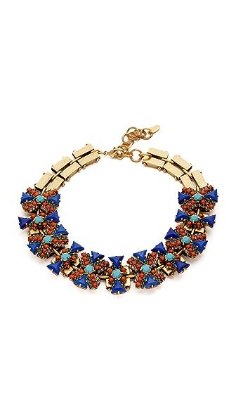Elizabeth Cole Kourtney Choker Necklace - Tangerine