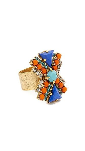 Elizabeth Cole Gina Ring - Tangerine