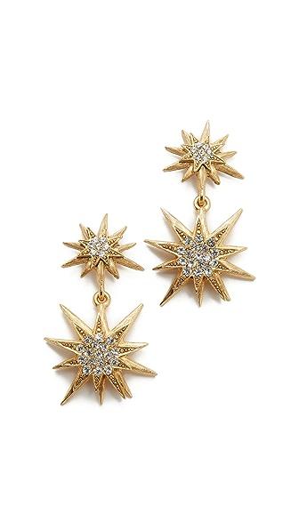 Elizabeth Cole Bianca Earrings - Golden Crystal